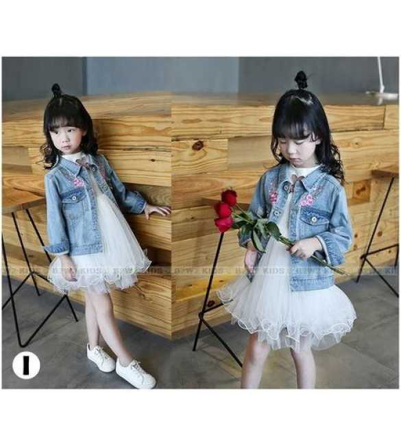 B2W2 12 I_Set White Dress with jeans jacket (MED SIZE)