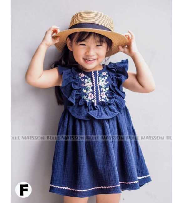 Dress Anak Belle Maison Ruffle Navy