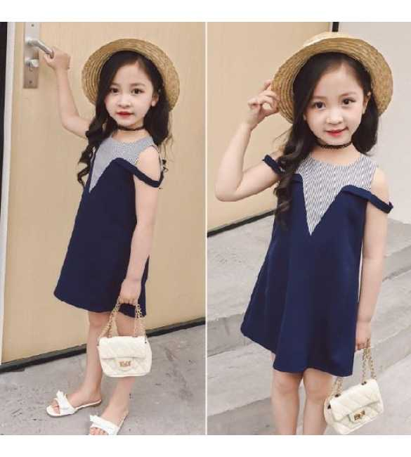Dress Anak Sabrina Navy Blue