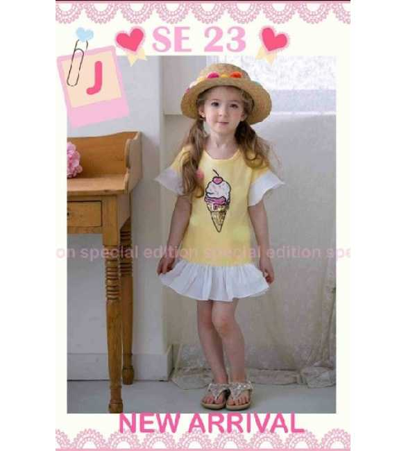 Dress Anak Special Edition SE 23 J Ice Cream Yellow
