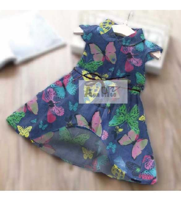 Dress Ann Mee Denim Butterfly