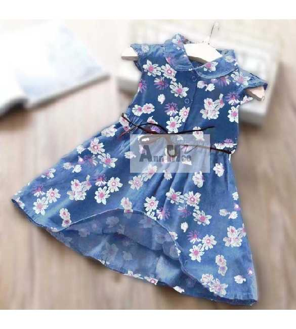 Dress Ann Mee Denim Flower