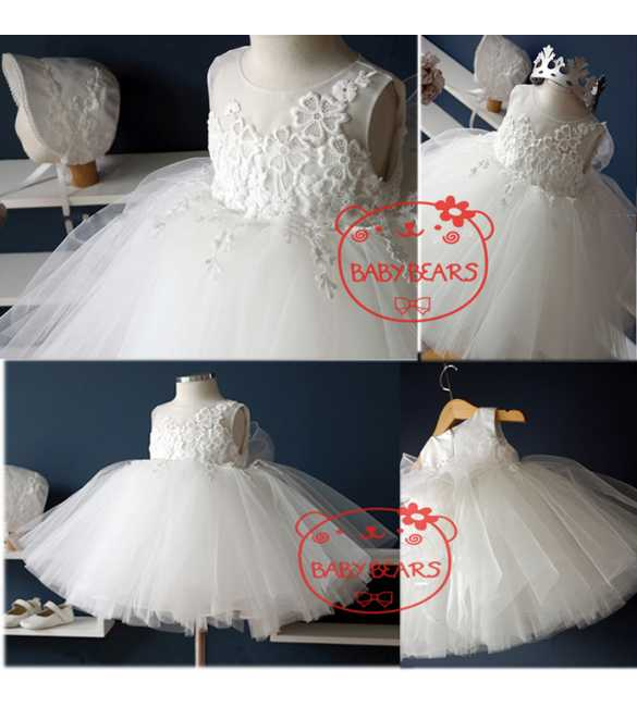 Dress Baby Bears White Tutu Dress