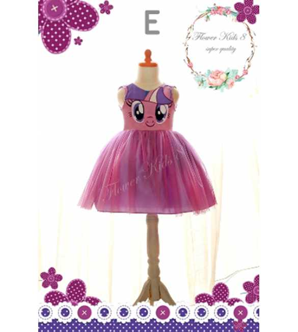 Dress Flower Kids Pony Purple