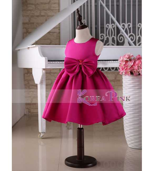 Dress Korea Pink Big Bow