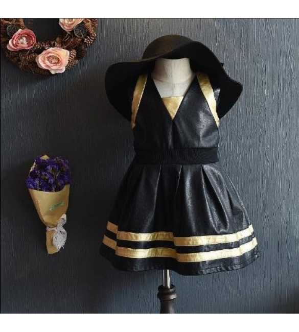 Dress Korea V Shape Black