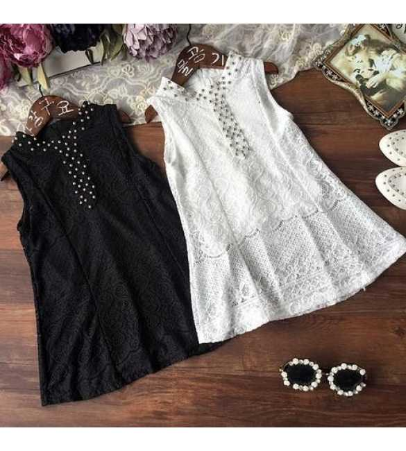 Dress Korea Brokat Black