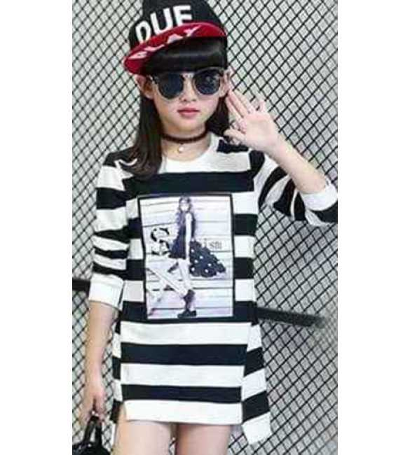 Dress Lady Stripes Black