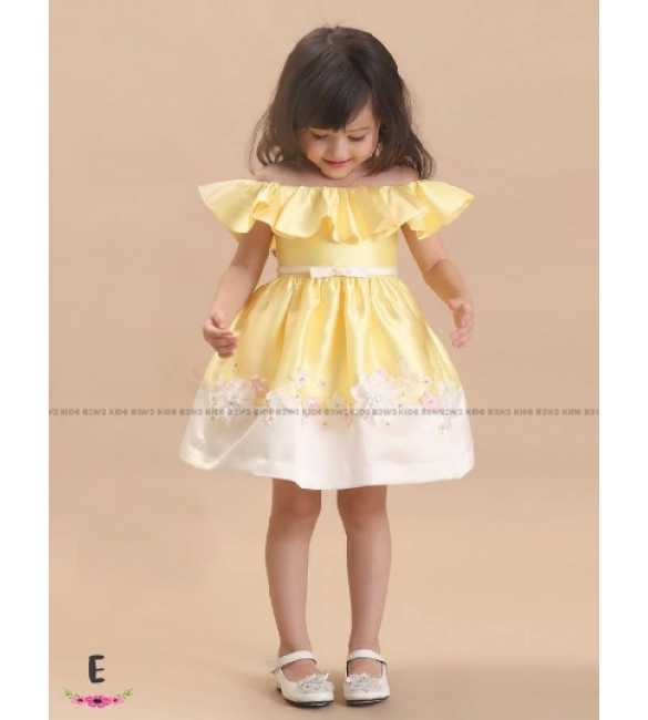 Dress Pesta Anak B2W2 Sabrina Kuning