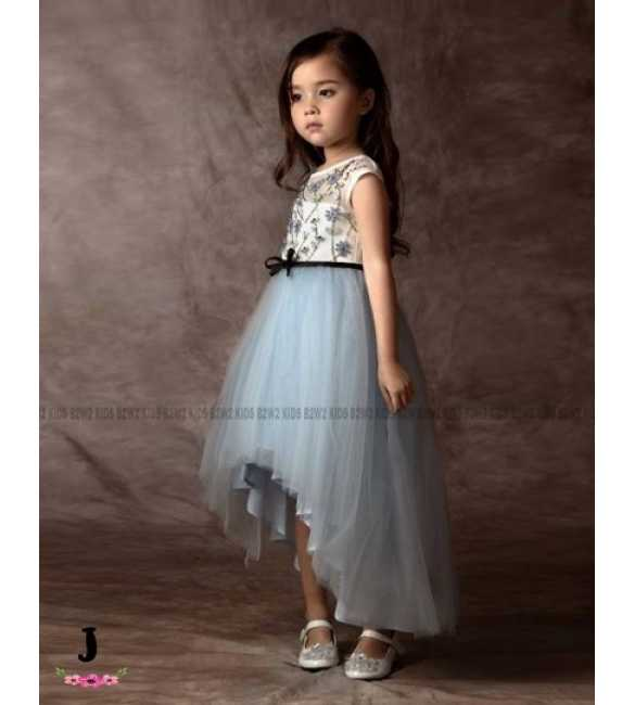 Dress Pesta Anak B2W2 Tutu Long Tail Blue