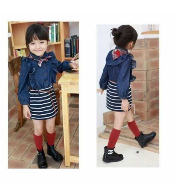Dress anak Phelfish Jeans biru