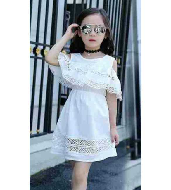 Dress Sabrina Lace White
