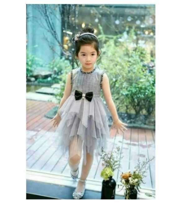 Dress Tutu Plaid Gray