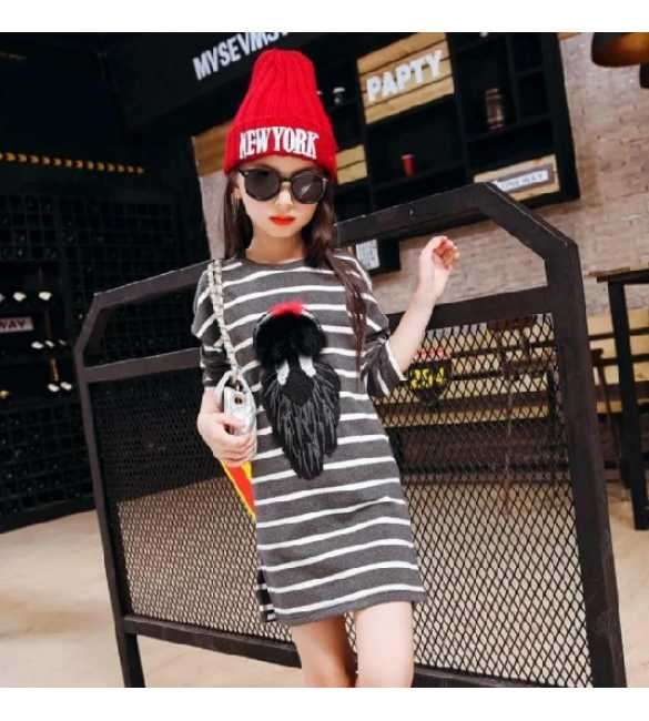 Dress anak Stripe Gray