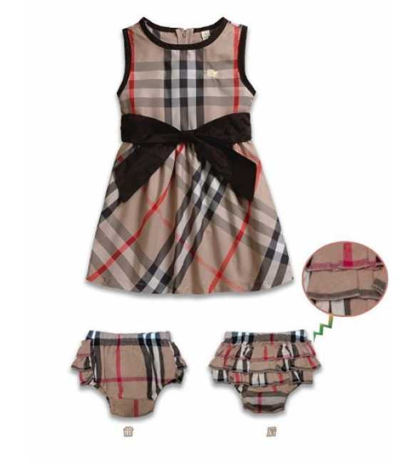 Dress anak Burberry brown with underwear