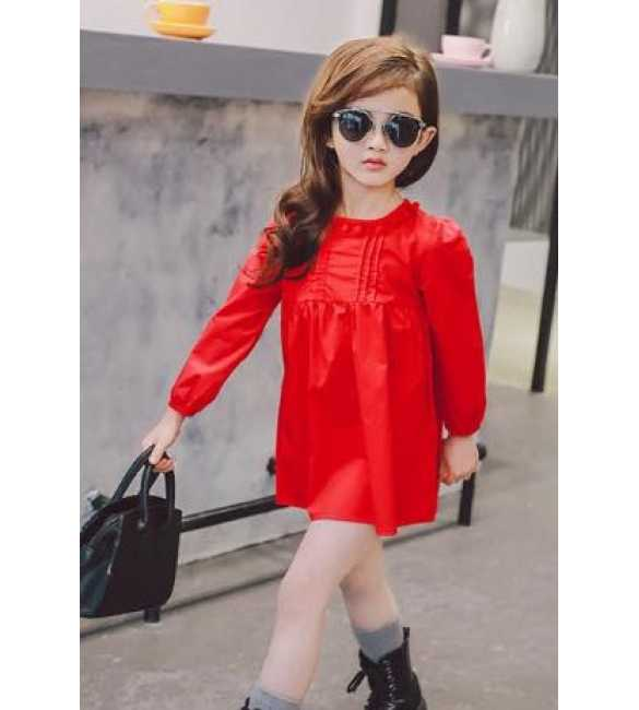 Dress anak pompom red