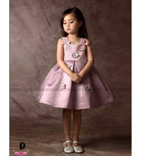 Dress pesta anak B2w2 Sequin pink