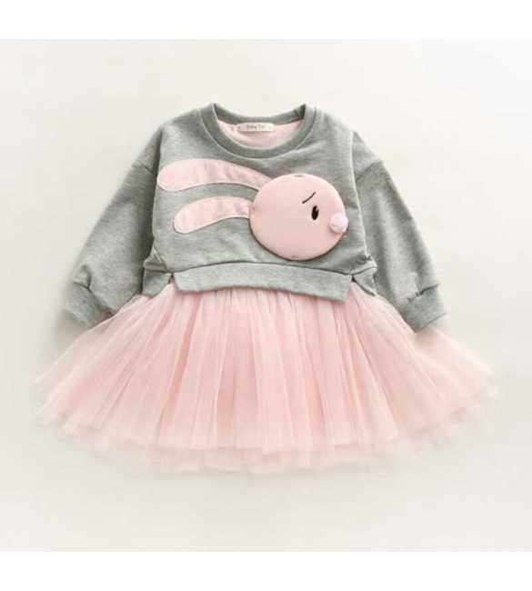 Dress tutu bunny Gray Pink