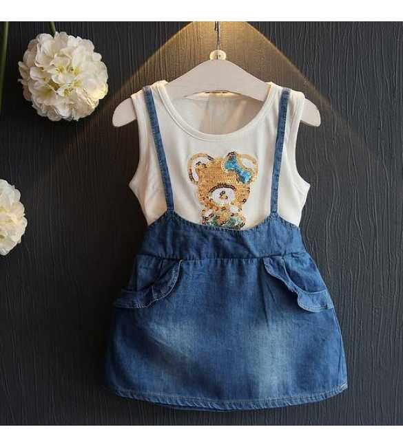 Dress Overall Midi Skirt Bear
