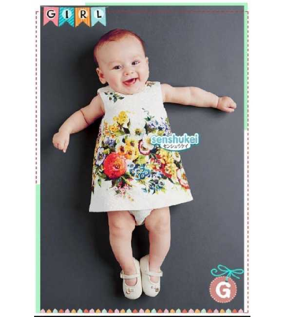 SENS 23 G Dress Anak Senshukei Flower White (MED SIZE)
