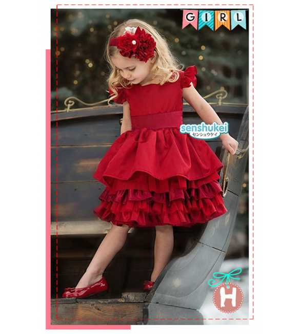 Sens 23 H Dress Anak Victoria Red (MED SIZE)