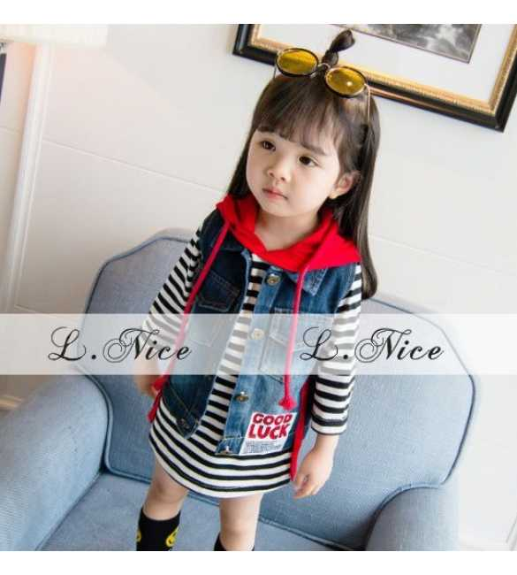 Set Dress Hoodie L Nice Stripes