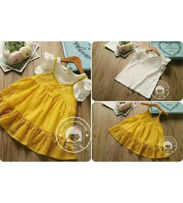 Set Dress Lace Yellow