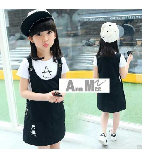 Set Dres Overall Ann Mee A Forever (BIG SIZE)
