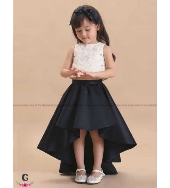 Set Dress Pesta Anak B2W2 Long Tail Black