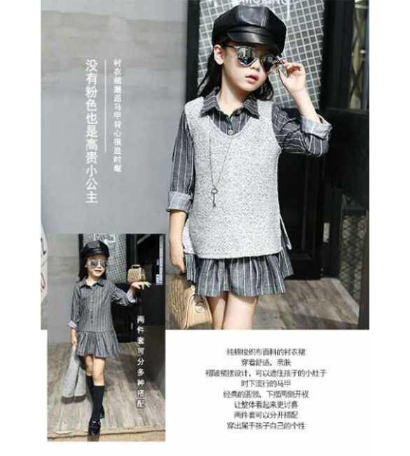 Set Dress Stripe Gray