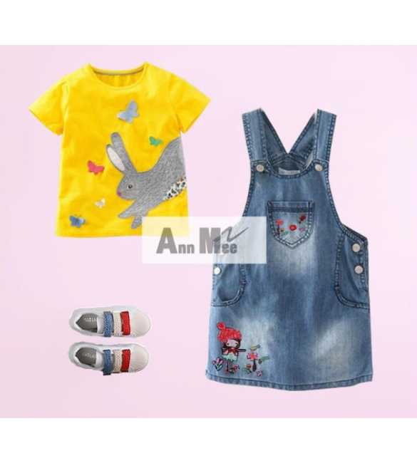 Set Girl Ann Mee Dress Overall Bunny (MED SIZE)
