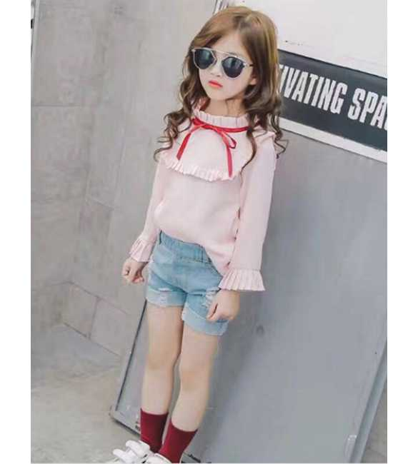 Set Girl Long Sleeve Pink Ribbon