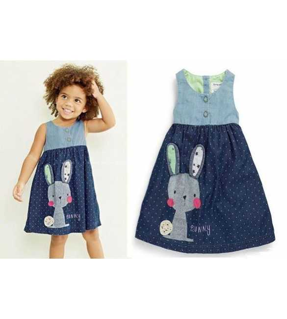Dress anak bunny blue