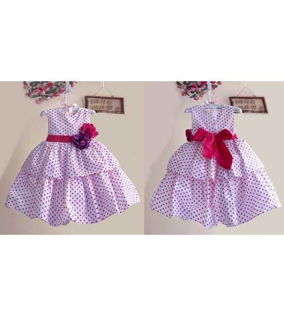 Dress Zoe polkadot pink