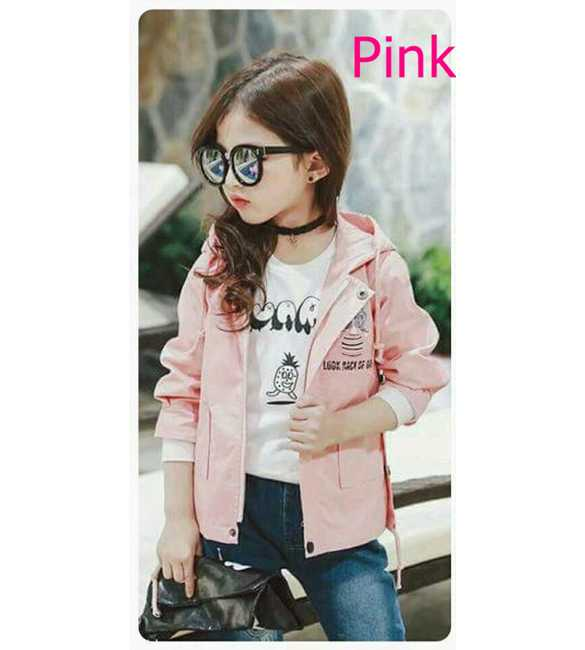 Jaket Hoodie Pink never look back of girl