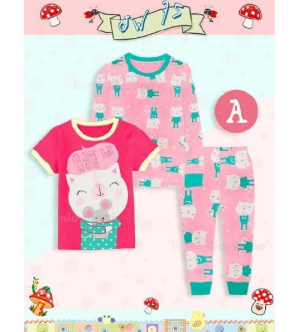 Piyama anak Junior Wardrobe JW 75 A 3in1 Cute Kitten (BIG SIZE)