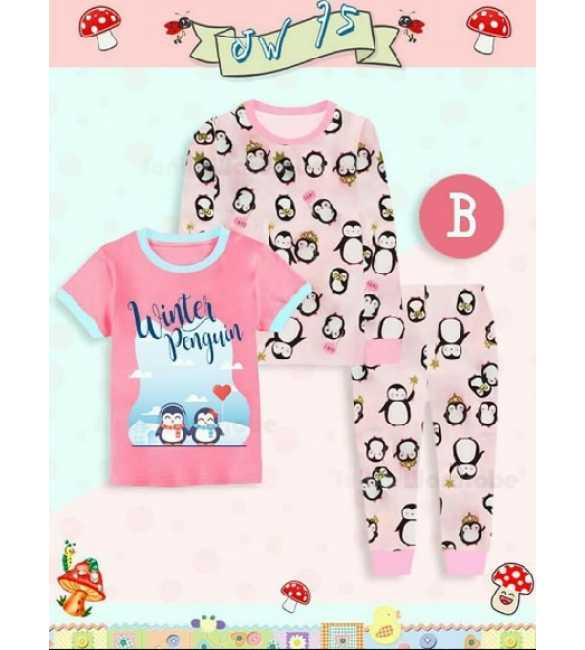 Piyama anak Junior Wardrobe JW 75 B 3in1 Pinguin (MED SIZE)