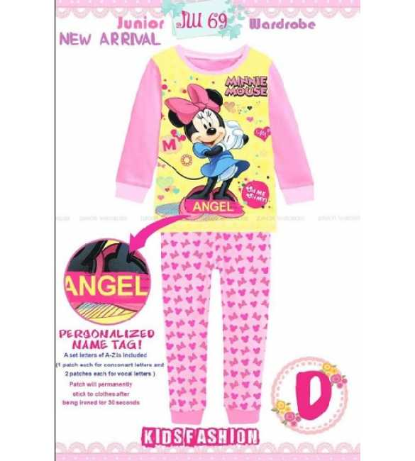 Piyama anak Perempuan Junior Wardrobe JW 69 D Minnie Mouse (Med Size)