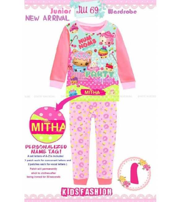 Piyama anak Perempuan Junior Wardrobe JW 69 I Party Queen (Baby Size)
