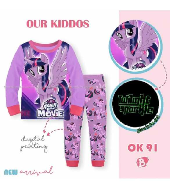 Piyama anak Perempuan Our Kiddos OK 91 B Twilight Sparkle
