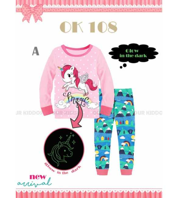 Piyama anak perempuan Our Kiddos OK 108 A Magic Unicorn (MED SIZE)