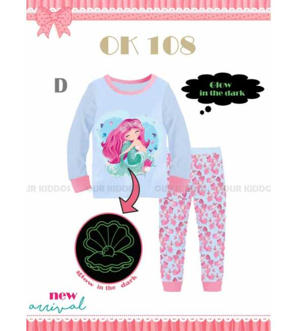 Piyama anak perempuan Our Kiddos OK 108 D Mermaid (BIG SIZE)