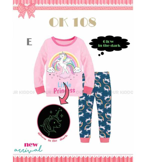 Piyama anak perempuan Our Kiddos OK 108 E Princess Unicorn (BIG SIZE)