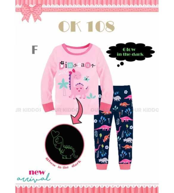 Piyama anak perempuan Our Kiddos OK 108 F Dinosaur Girl (BIG SIZE)