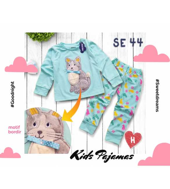 Piyama anak perempuan Special Edition SE 44 Pussy Cat_MED SIZE