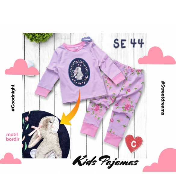 Piyama anak perempuan Special Edition SE 44 Rabbit Purple_MED SIZE