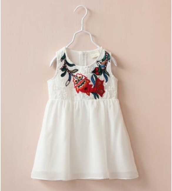 Dress Korea Lace White