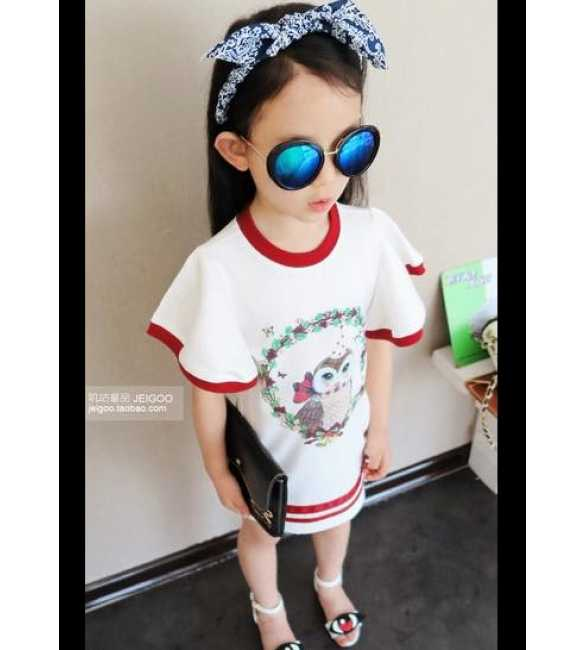 Dress Korea Owl White