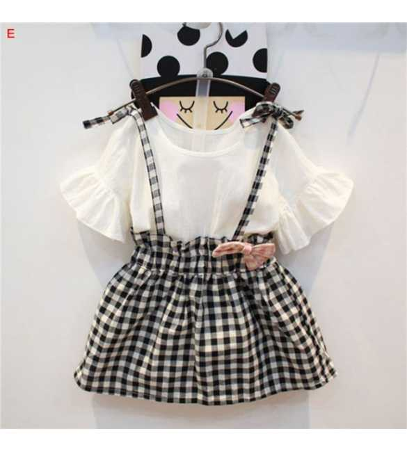 Dress anak perempuan Kayla Plaid Black