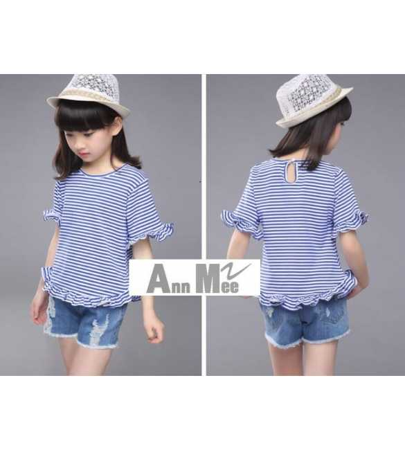 Girl Set Ann Mee Stripe Blue (MED SIZE)
